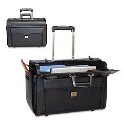 Rolling Computer/Catalog Case, Koskin, 19 x 9 x 15-1/2, Blac
