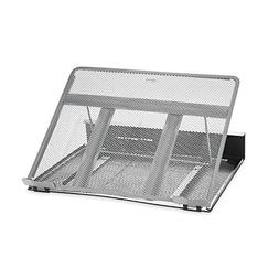 Rolodex Mesh Workspace Laptop Stand, Black/Silver