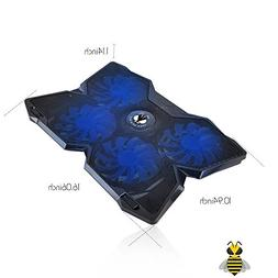 Tree New Bee Cooling Pad for 15.6-17-Inch Laptops with Four