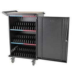 Tripp Lite 36-Port AC Charging Cart Storage Station for Chro