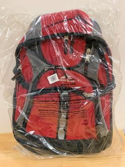 High Sierra Access Laptop Backpack Red And Black Rain Cover