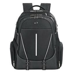 "Active Laptop Backpack, 17.3"", 12 1/2 x 6 1/2 x 19, Black"