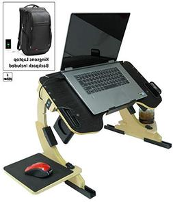 Portable Adjustable Laptop Bed Desk Stand Tray Table - Sturd