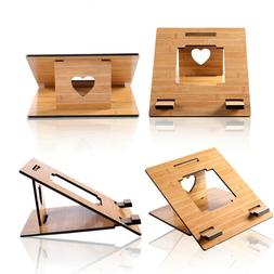 Adjustable Wooden Laptop Stand Invisible Folding Holder for
