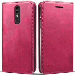 FOR ALCATEL ONYX PINK WALLET FLIP FOLIO CARD SLOT CASE STAND
