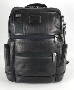 Tumi Alpha Bravo Knox Distressed Black Leather Laptop Busine