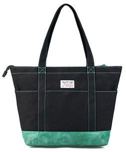 HotStyle AMY Womens Canvas Top Zip Tote Bag Laptop Handbag -