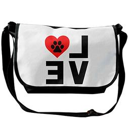 Animal Lover Dog Paw Print Unisex Casual Messenger School Sh