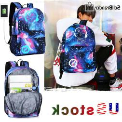 Anime Luminous Laptop Backpack Fashion Galaxy School Bags Wi