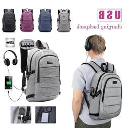 Anti Theft Business Waterproof Travel Laptop Backpack Bag wi