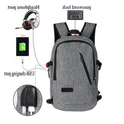 Anti-theft Laptop Backpack,Water Resistant Travel School Col