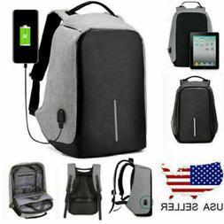 Anti-theft Laptop Notebook Backpack +USB Charging Port Schoo