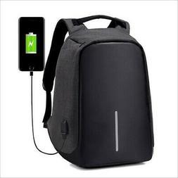 Anti-theft Men Women Laptop Notebook Backpack + USB Charging
