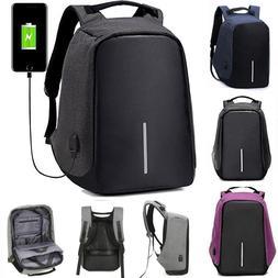 Anti-theft Men Women Laptop Notebook Backpack +USB Charging