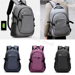 anti theft men women usb charging backpack