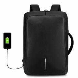 Anti Theft Men Women Waterproof Laptop School Backpack USB C