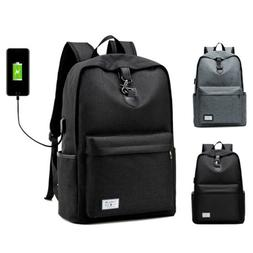 Anti-theft Mens Backpack with USB Charger Laptop Notebook Tr