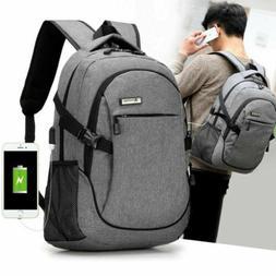 Anti-theft Mens Laptop Backpack Travel School Bag Rucksack W