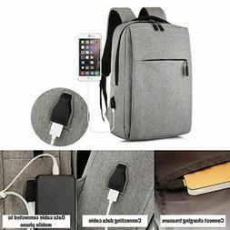 Anti theft Rucksack USB Charging Port Backpack Laptop Notebo