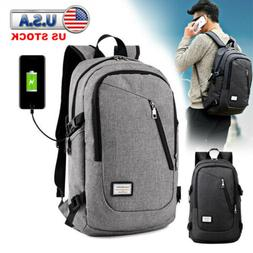 Anti-theft Rucksack USB Charging Port Backpack Laptop Notebo