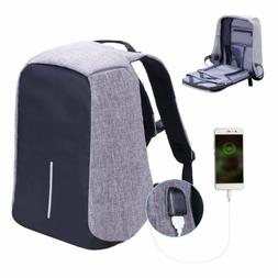 Anti-theft Water Resistant Laptop Notebook Backpack USB Char