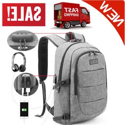 Anti Theft Water Resistant Travel Laptop Backpack W/ USB Cha