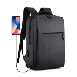 "Antitheft Men Women USB Charging Port Backpack 16"" Laptop Tr"
