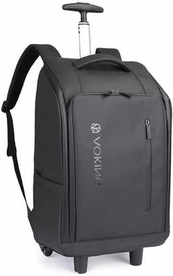 Aoking 20″ Water Resistant Rolling Wheeled Backpack Laptop