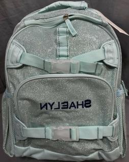 "Pottery Barn Kids Aqua Glitter Mackenzie Laptop Backpack """