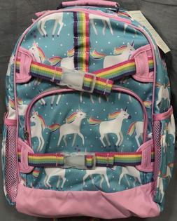 Pottery Barn Kids Aqua/Pink Unicorn Mackenzie Laptop Backpac