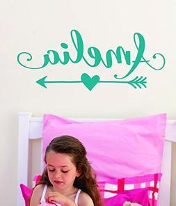 Arrow Name Decal for Girls or Boys - Custom Name Decal Nurse