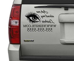Ask Me About My Lashes Business Advertisement Car Decal