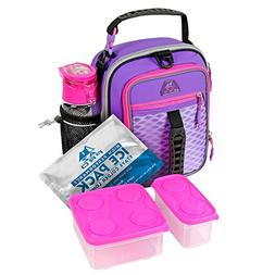 AZ Pro High Performance Dual Compartment Lunch Pack; Purple/