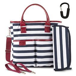 BabyTom Baby Diaper Bags Designer , Durable Zippered Zebra C