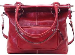 Baccelo Satchel Color: Tuscan Red