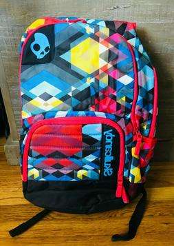 Skullcandy Backpack Book bag NWT multicolor laptop carrying