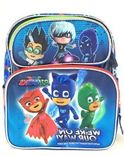 "PJ Masks Backpack 12"" Boys Book bag We're on our way School"