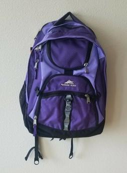 High Sierra backpack padded laptop suspension strap airflow/