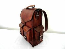 Backpack Rucksack Messenger Bag Men's Genuine Leather Vintag