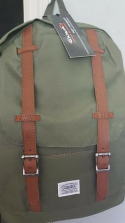 Kaukko Backpack Unisex, Laptop Bag, School Bag, Travel Green