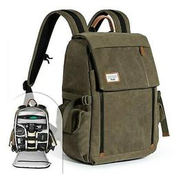 Camera Backpack Zecti Waterproof Canvas Professional Camera