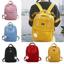 Backpack Women Canvas Travel Bookbags School Bags for Teenag