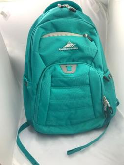 High Sierra backpack zipper pockets water holder  NEW teal p