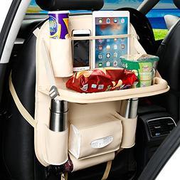 Lmeison Backseat Car Seat Organizer, PU Pocket Protector for