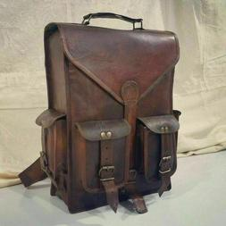 Bag Leather Backpack Men Satchel Shoulder Travel Laptop Scho