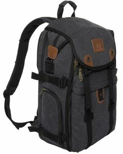 "DSLR Camera Backpack, 21"" Canvas Camera Bag with Rain Cover"