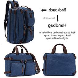 BAOSHA BC-22 Vintage Canvas Men's Briefcase Backpack Messeng