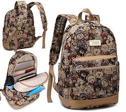 Kinmac Bear Pattern Small Laptop Backpack with Massage Cushi
