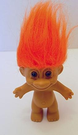 Russ Berrie Vintage Troll Doll Orange Haired 4.5 Inches
