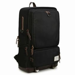 Black 14'  Mens Laptop Backpack Water Resistant Travel Casua